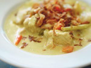 Kashimiri Fish and Cauliflower Curry