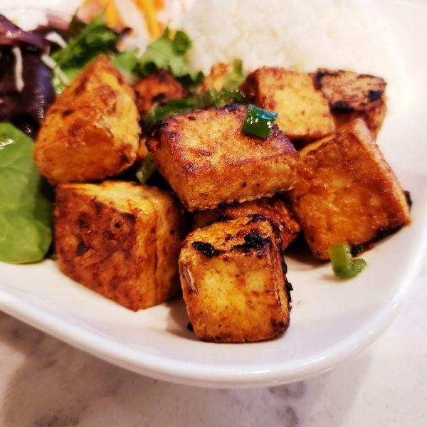 Crispy tofu with lemongrass